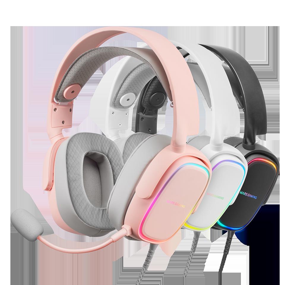 Auriculares gaming MHAX en ROSA