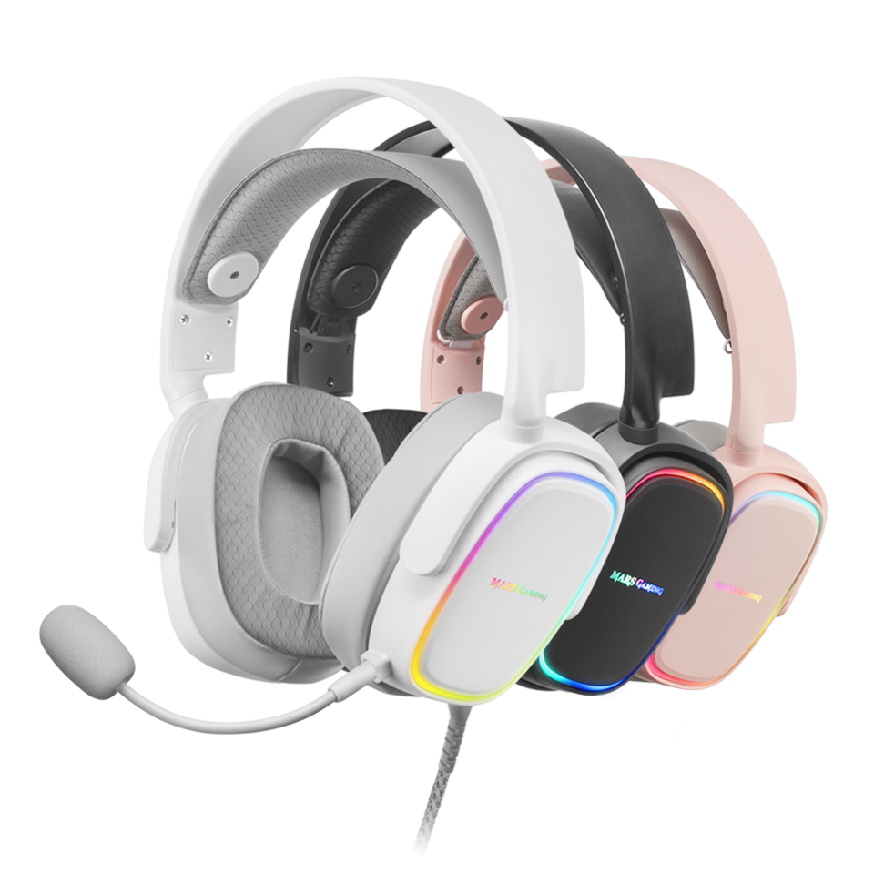 Auriculares gaming MHAX en BLANCO